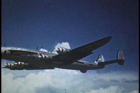 Arthur Godfrey flies a light airplane and a DC3 in 1953.