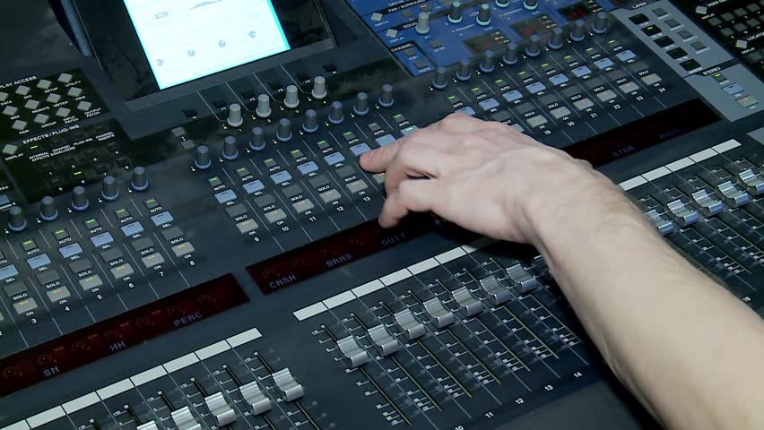 Work of the Digital Audio Mixing Console.