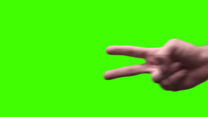 Two finger sign sideways