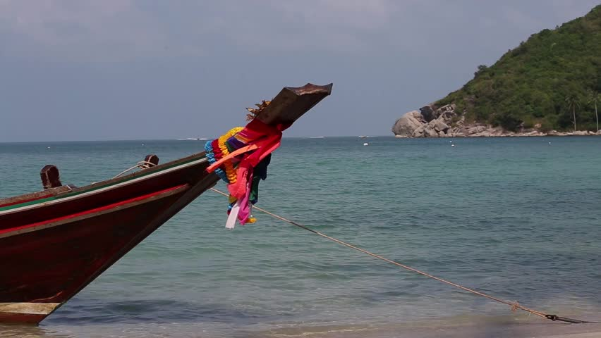 Traditional long tail boat, Thailand. | Shutterstock HD Video #5353508