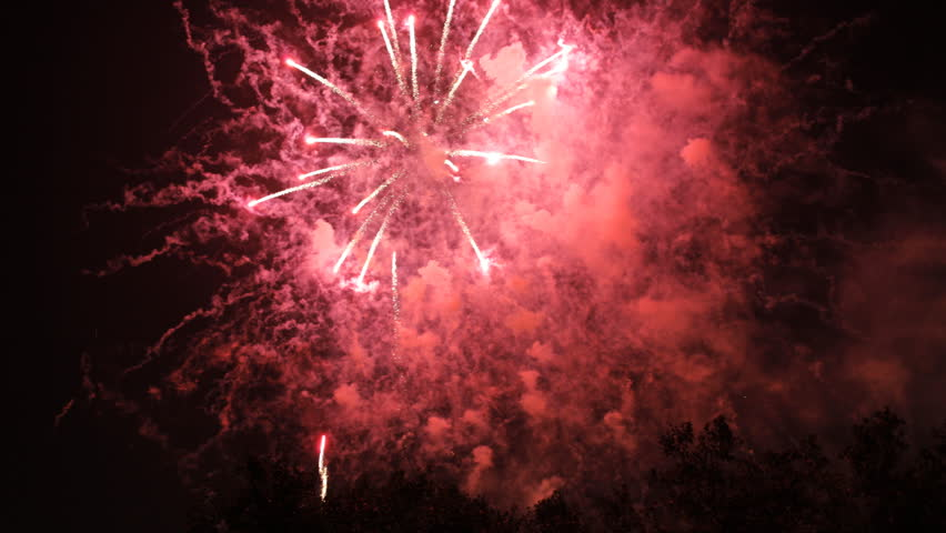 brightly colored fireworks display