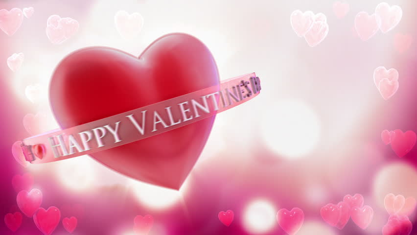 Happy Valentines Day Text Stock Footage Video | Shutterstock