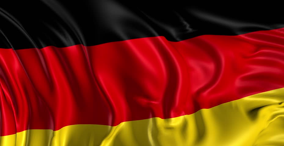 Flag of Germany Beautiful   3d animation of Germany flag in loop mode