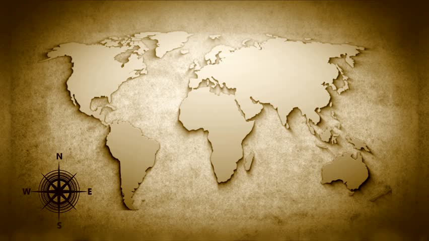 Adobe after effects tutorials stock footage video shutterstock world map with compass this video was made in the program adobe after sciox Gallery