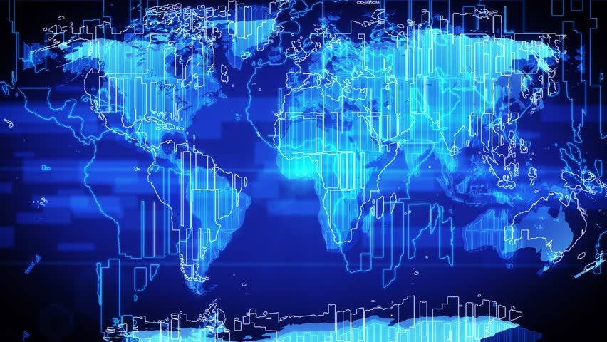 Abstract world map. Ideal for broadcast background. 4K resolution (Ultra HD). Seamless loop animation. | Shutterstock HD Video #5389679
