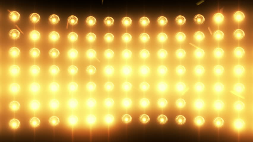 Bright flood lights background with particles and glow. Gold tint. Seamless loop.  Ultra HD - 4K Resolution. More color options available in my portfolio. | Shutterstock HD Video #5414858