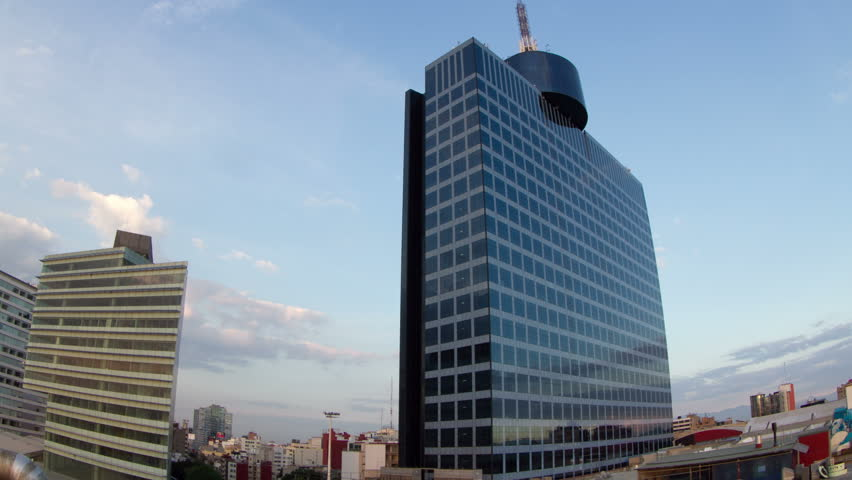 time-lapse of the world trade centre building in mexico city. super high quality, 4k resolution (4096x2304).