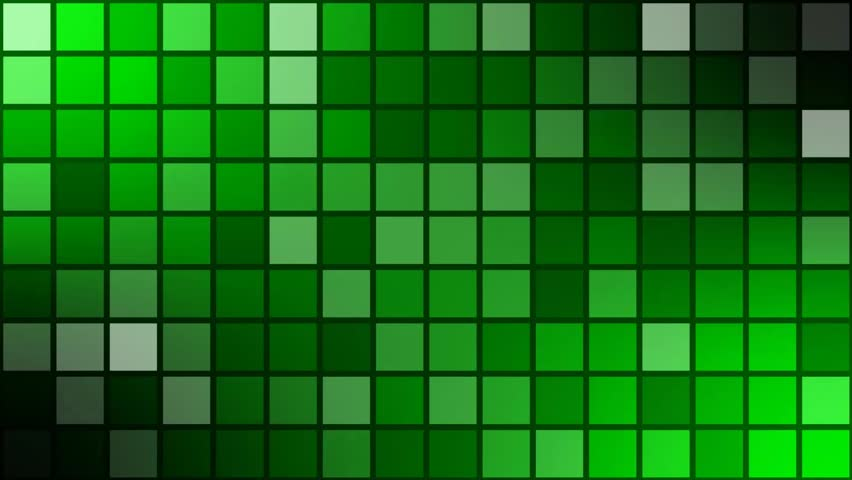 animated mosaic with dark grid -backgroundvideo- green screen