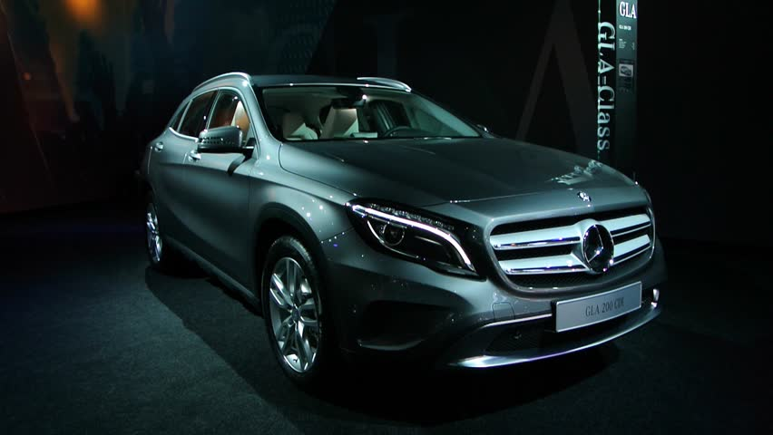 BRUSSELS, BELGIUM - JANUARY 14, 2014: Mercedes-Benz GLA-Class compact SUV on display at the 2014 Brussels motor show.