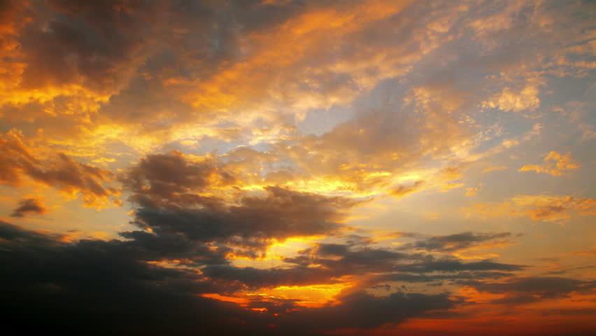 Sunset - Timelapse. 4k. Full Stock Footage Video (100% ...