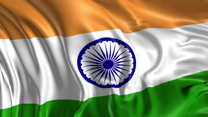 India Flag Hd Art: Flag Of India Beautiful 3d Stock Footage Video (100