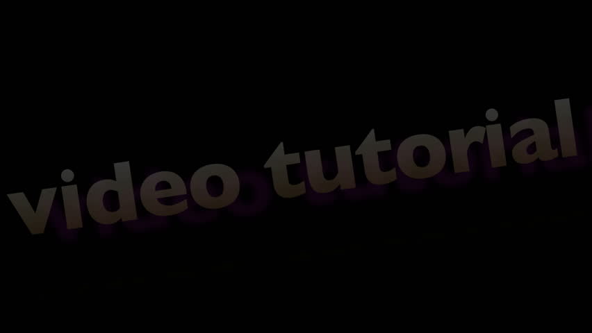 An animated logo caption designed for video tutorials.