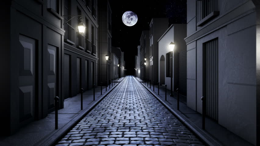 stock video of scary alley corridor at night 5473148