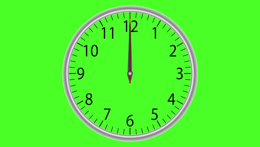 Clock Time Lapse On Green Stock Footage Video (100% Royalty-free) 5475638 |  Shutterstock