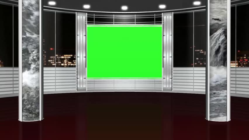 Royalty-free Virtual studio background - green screen