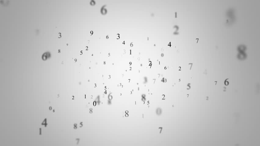 Animated background with numbers