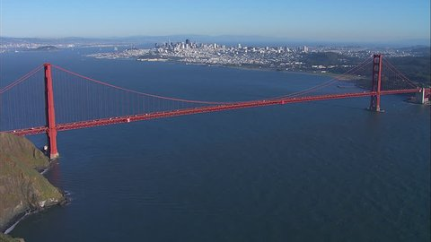 San Francisco Golden Gate Bridge. The scene shows the city of San Francisco. A beautiful view of the Golden Gate bridge and city.