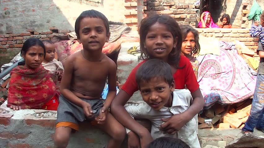RAXAUL, INDIA-OCT 31: Local children on 31st October 2011 in Raxaul, Bihar State, India. Bihar is one of the poorest states in India. The per capita income is about 115 dollars.