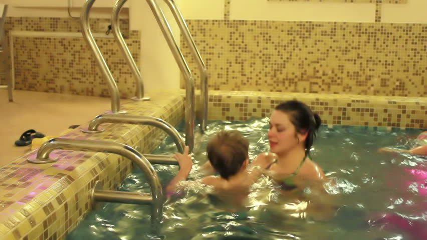 Mom And Son Swimming In Stock Footage Video 100 Royalty-Free 5567288  Shutterstock-3709