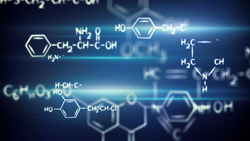 flying chemical formulas loop  #5606618