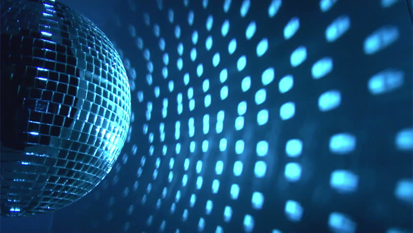 Blue Disco Ball Effect and Stock Footage Video (100% ...