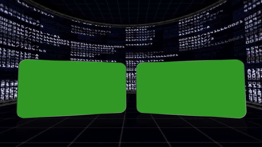 Two Green Screen Monitors in Numbers Room, with Alpha Channel | Shutterstock HD Video #5630798