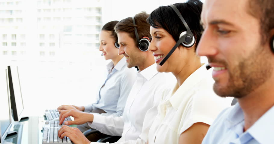 Happy Customer Service Agents Working In The Office Stock Footage ...