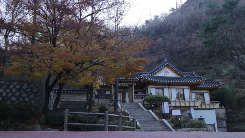 Seoul, South Korea - November, 2012 - Temple in Namsan.
