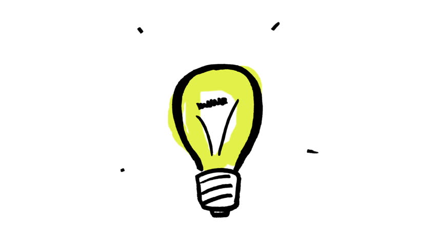 Animation Of Gestating Yellow Light Bulb On White Background
