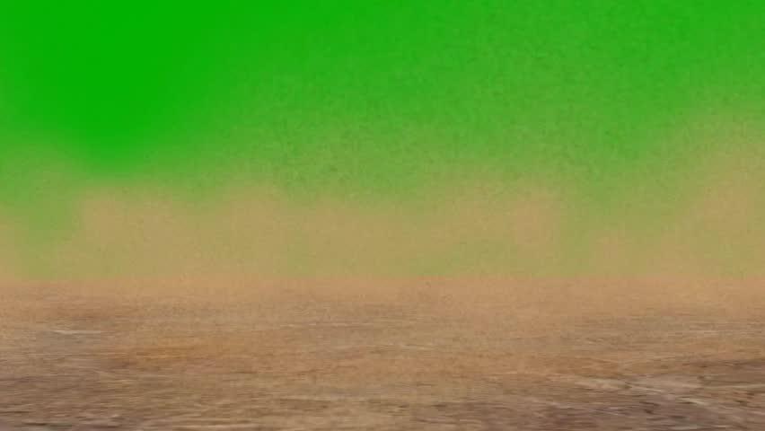 strong sandstorm in the desert