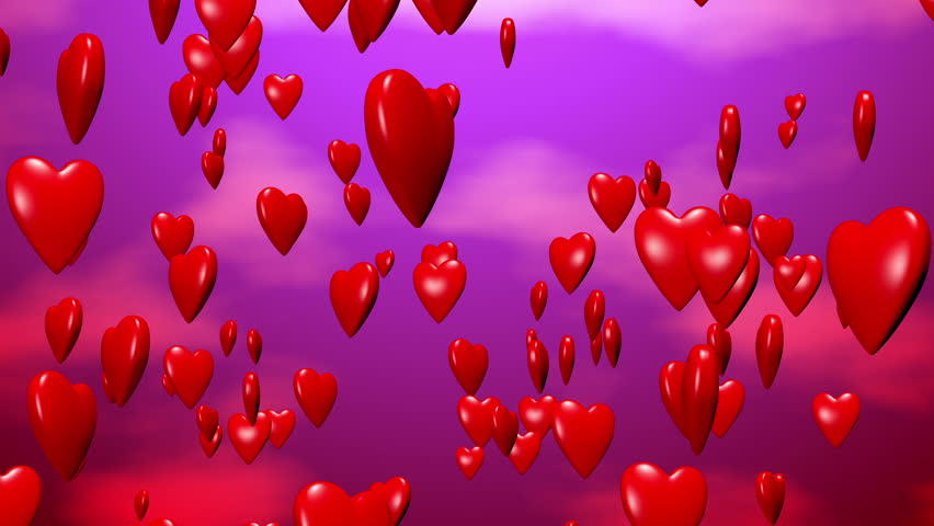 Animated Hearts In Motion Stock Footage Video 5704328