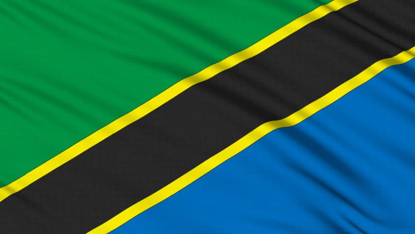 Tanzania Flag, with real structure of a fabric