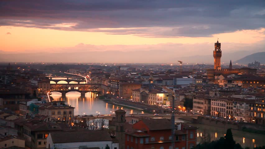 Florence after sunset. Italy