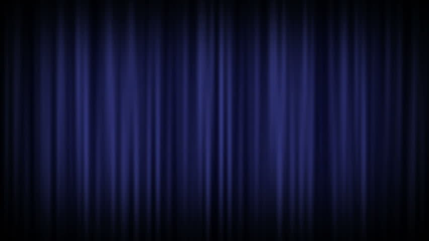 Background Lighting Effect Of A Light Shining On Closed Velvet Curtain Such As Used In