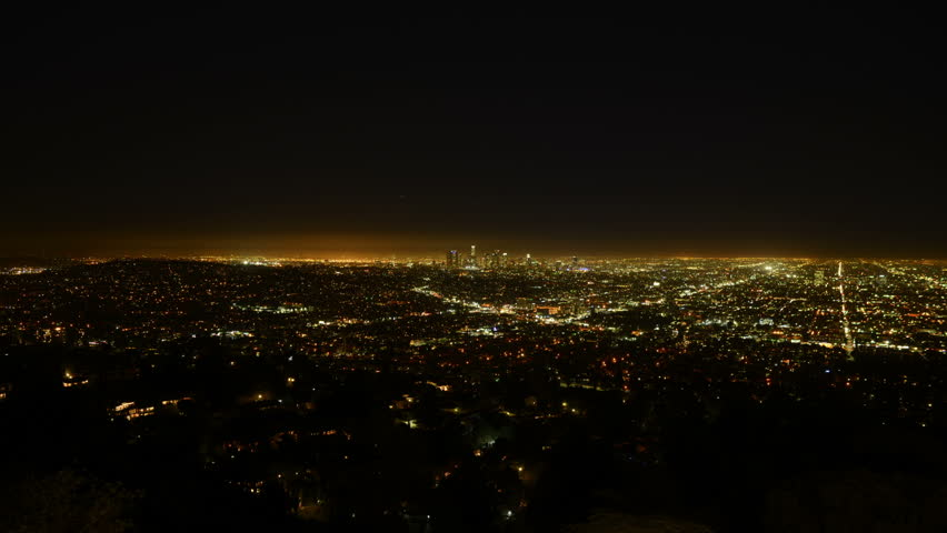 Los Angeles Night View 56 Timelapse Traffic   Shutterstock HD Video #5780648