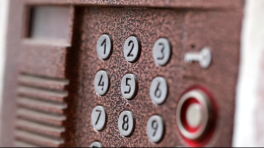 Set of numbers on the video intercom | Shutterstock HD Video #5790458