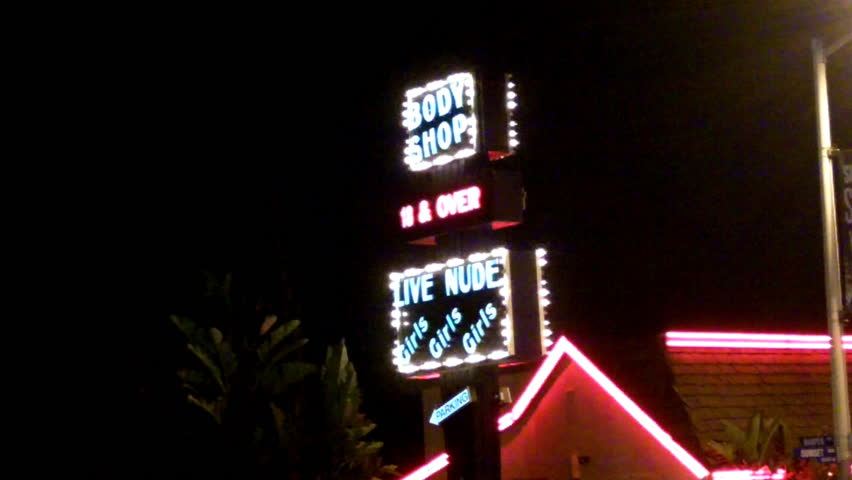 West hollywood adult shop royalty-free stock footage
