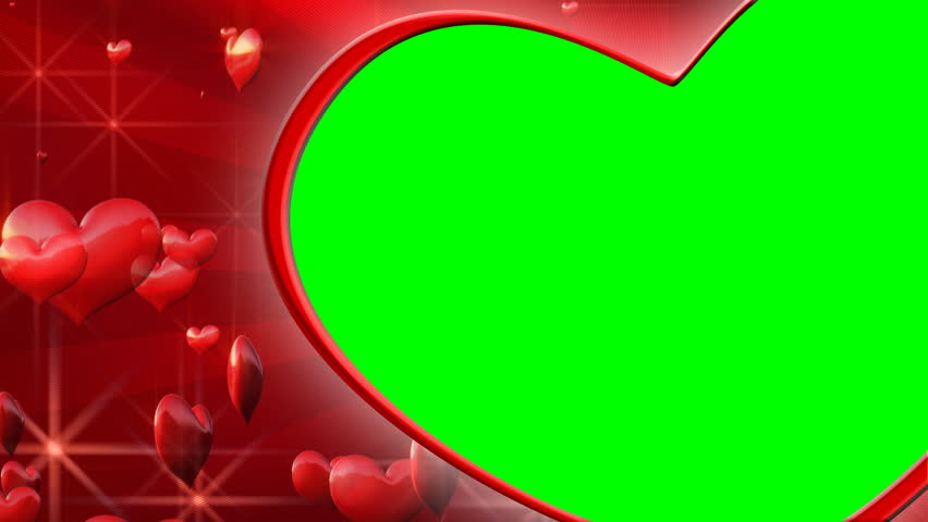 Background with Flying Hearts  Chroma Stock Footage Video (100%  Royalty-free) 584158 | Shutterstock