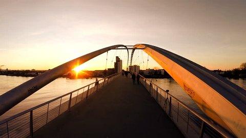 sunset dusk sun flare. carless timeless. beautiful. amazing. epic. bridge lake river.