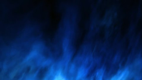Mystic loopable blue fractal style fire background, 3D rendered animation