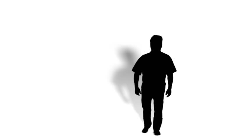 person jump on a white background, seamless loop