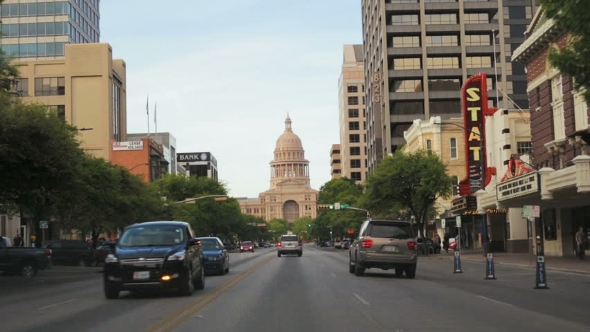 Driving Toward the Texas State Capital