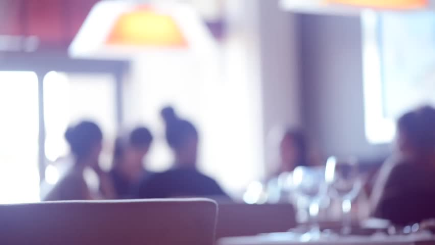 Restaurant Background With People dinner in a restaurant. group of people eating and talking