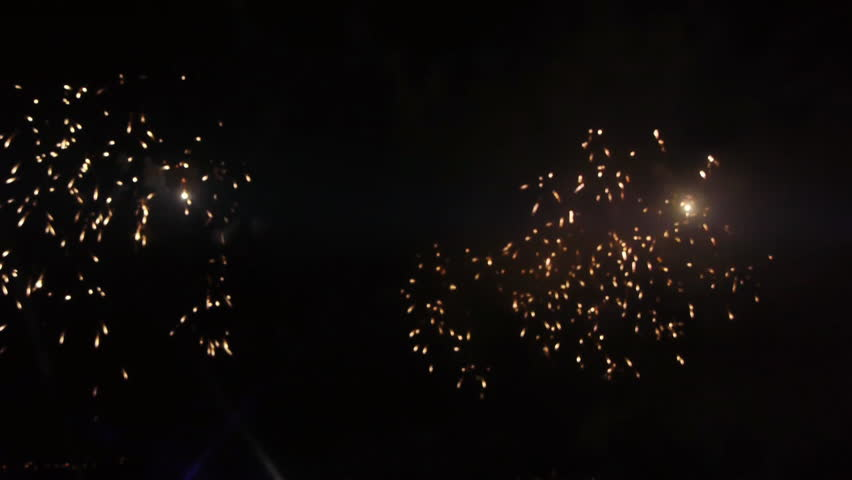 Great fireworks at night /celebrating anniversary | Shutterstock HD Video #592828