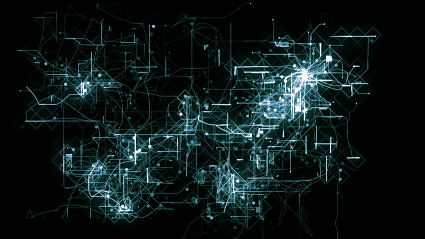 Abstract animated background of a network concept. | Shutterstock HD Video #5933018