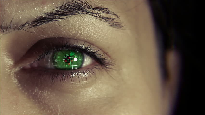 Bionic eye implant with heads up display   Shutterstock HD Video #5945618