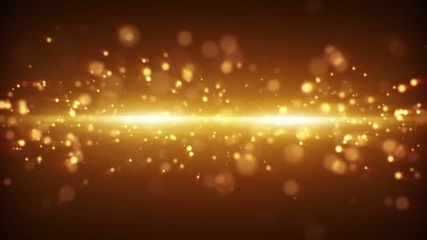 gold light stripe and particles loopable background
