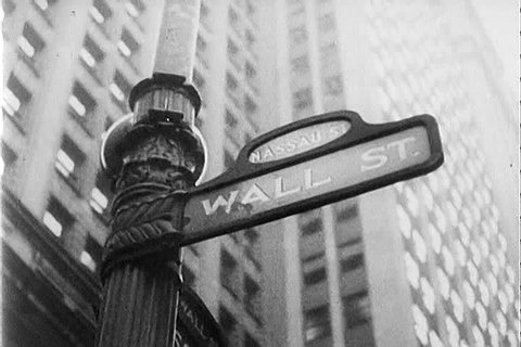 CIRCA 1940s - Nazi propaganda film sheds a negative view on the American way of life in 1942 with a focus on Wall St. bankers.