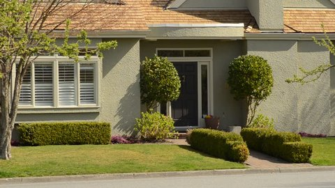 Beautiful house in a suburban neighborhood