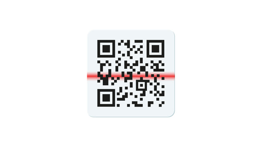 barcode and qr code on white. with alpha